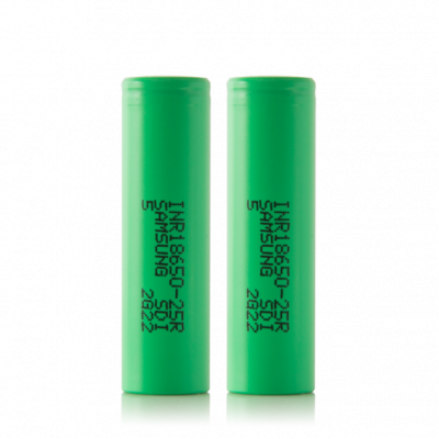 2 x Samsung Rechargeable Batteries 25R 35A 2500mah 3.7V Multi Use 100% Authentic