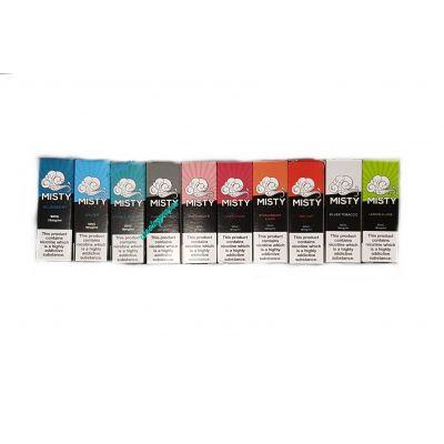 Misty 10ml Eliquid Vape Juice 3mg 6mg 12mg 18mg *All Flavours*