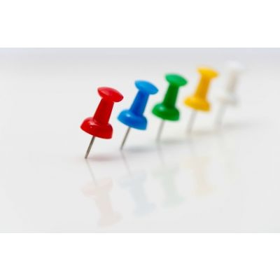 PUSH PIN ASSORTED MULTI COLOURED DRAWING PINS NOTICE OFFICE CORK BOARD