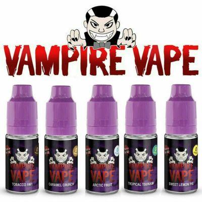 Vampire Vape E-Liquid 10ml Bottles 3mg 6mg 12mg 18mg 50+ Flavours Available