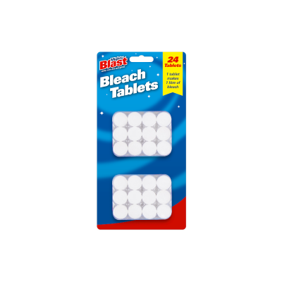 BLEACH TABLETS CHLORINE DISINFECTANT CLEANING TOILET SINK LAUNDRY (PACK of 24)