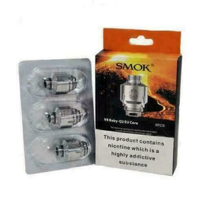 SMOK V8 Baby-Q2 EU CORE COILS 0.4Ω 40-80W 3-Pk T PRIV COIL H PRIV, BIG BABY TANK