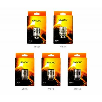 SMOK TFV8 COILS, CLOUD BEAST V8 - Q4 | T6 |T8  Replacement Vape Coil pack of 3
